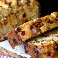 Eggnog Rum Bread with Cinnamon Chips