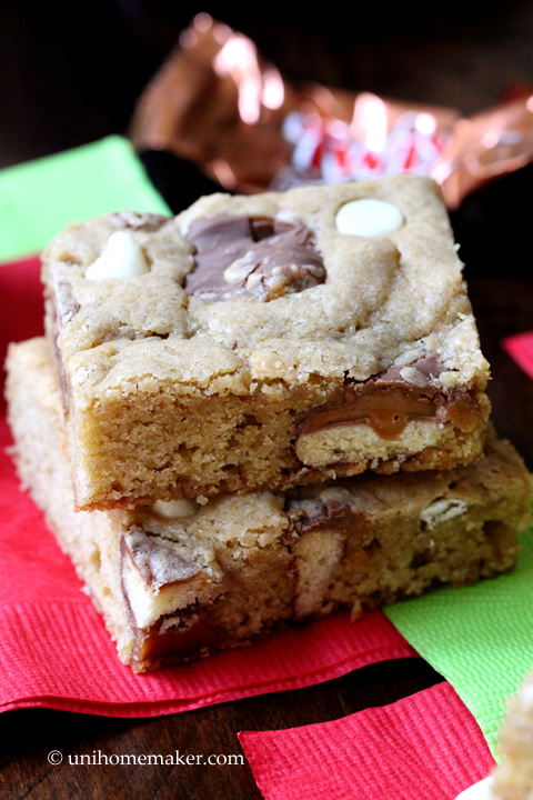 Gingerbread Twix Blondies