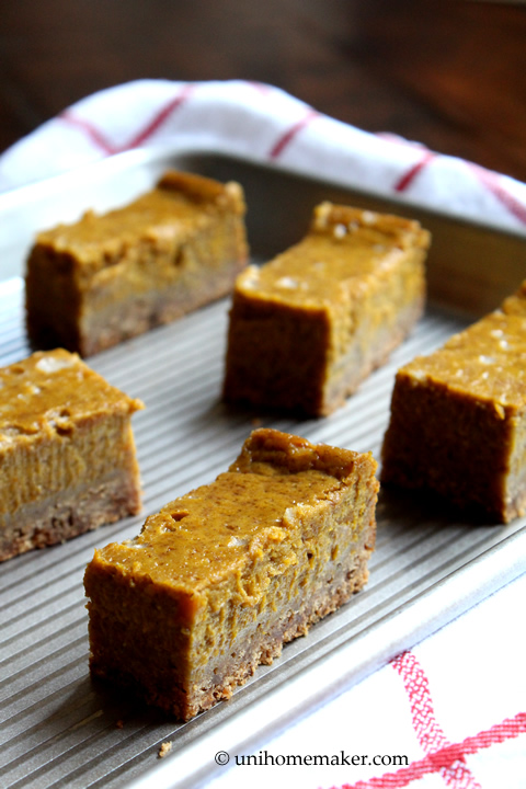 Maple Pumpkin Spice Pie Bars