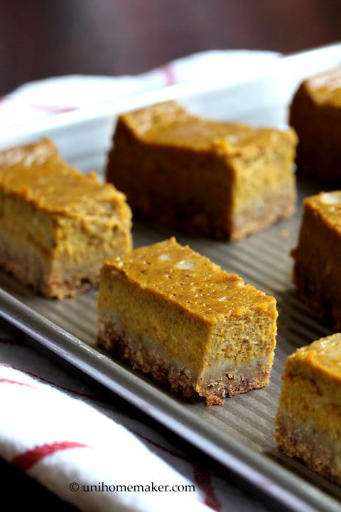 Maple Pumpkin Spice Pie Bars