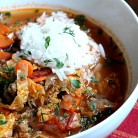 Turkey Stuffed Cabbage Soup